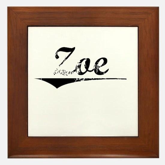 Zoe, Vintage Framed Tile