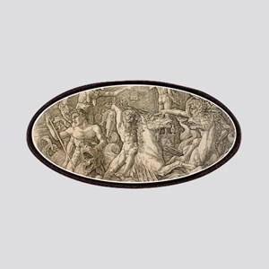 Battle of Two Sea Monsters - Andrea Mantegna Patch