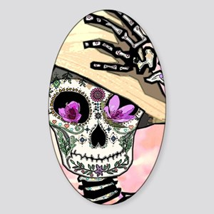 Sunny Skeleton Sticker (Oval)
