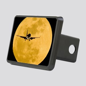Aeroplane silhouetted agai Rectangular Hitch Cover