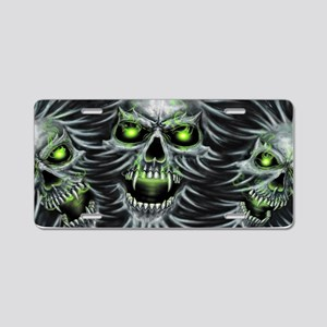Green-Eyed Skulls Aluminum License Plate