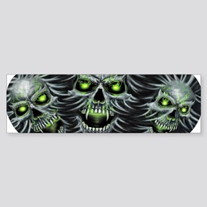 Green-Eyed Skulls Sticker (Bumper)