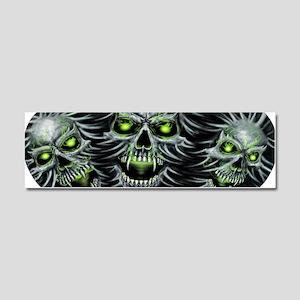 Green-Eyed Skulls Car Magnet 10 x 3