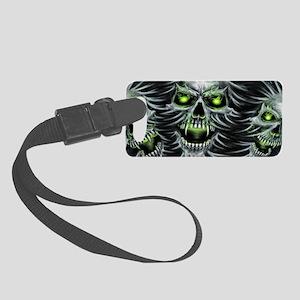 Green-Eyed Skulls Small Luggage Tag