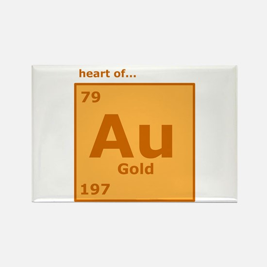 Periodic table gold magnet cafepress heart of gold rectangle magnet urtaz Gallery