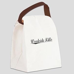Woodside Hills, Vintage Canvas Lunch Bag