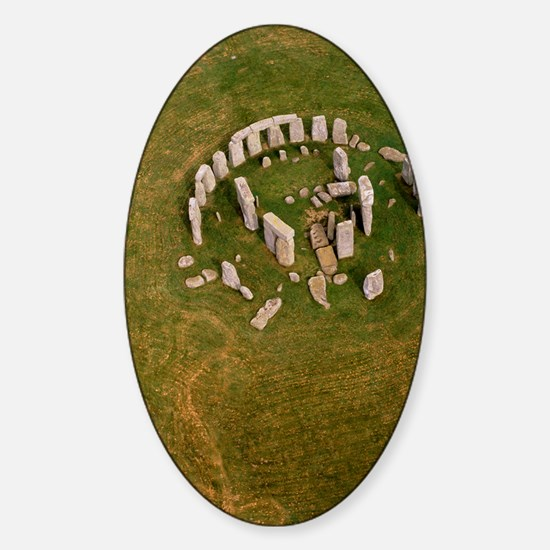Aerial view of Stonehenge Sticker (Oval)