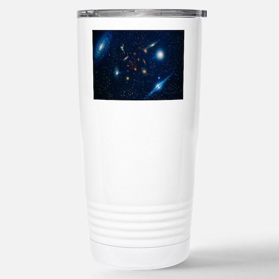 Artwork of various galaxies sho Stainless Steel Tr