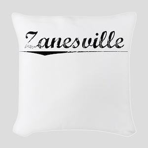 Zanesville, Vintage Woven Throw Pillow