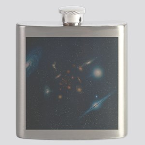 Artwork of various galaxies showing red shif Flask