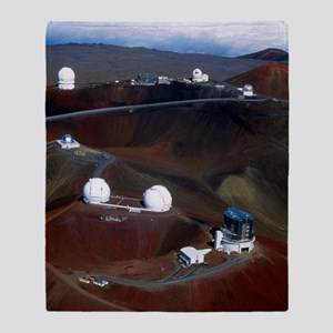 Aerial view of observatories at Maun Throw Blanket