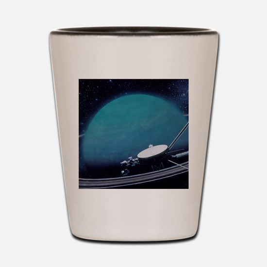 Artwork showing Voyager 2's encounter w Shot Glass