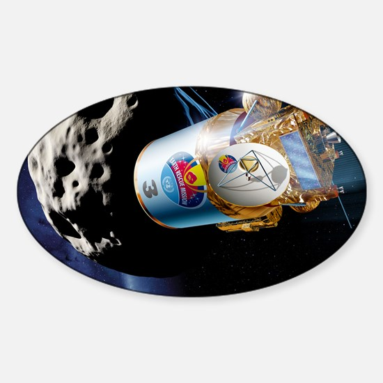 Asteroid deflection, kinetic impact Sticker (Oval)