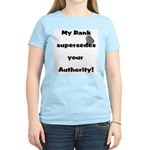 My Rank Supersedes Your Authority Women's Light T