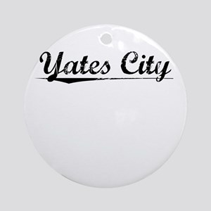 Yates City, Vintage Round Ornament