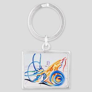 Artwork of inner ear Landscape Keychain