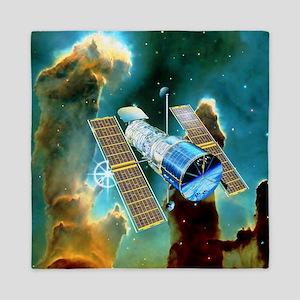 Artwork of Hubble Space Telescope and  Queen Duvet