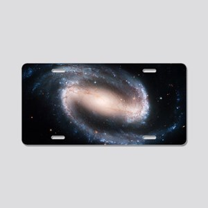 Barred spiral galaxy NGC 13 Aluminum License Plate