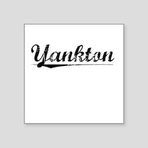 "Yankton, Vintage Square Sticker 3"" x 3"""