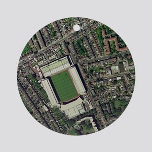Arsenal's Highbury stadium, aerial  Round Ornament