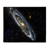 Andromeda galaxy Fleece Blankets
