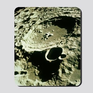 Apollo 11 image of craters on the Moon Mousepad