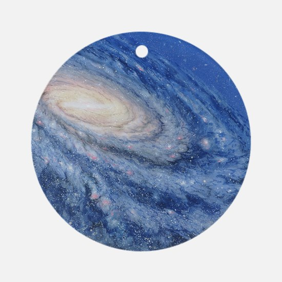 Artwork of the Milky Way, our galax Round Ornament