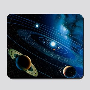 Artwork of the solar system Mousepad