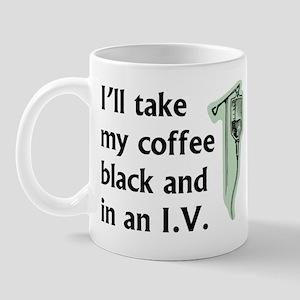 Coffee in an IV Mug