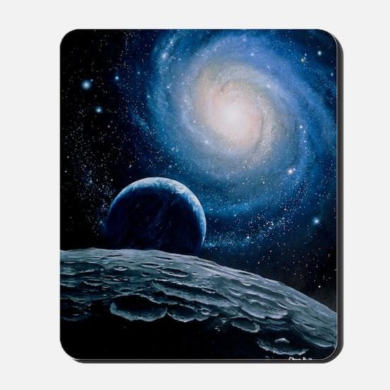 Artwork of a spiral galaxy Mousepad