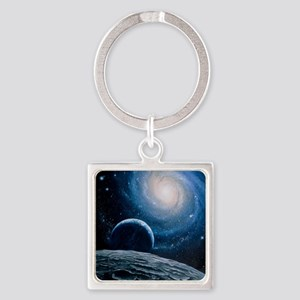 Artwork of a spiral galaxy Square Keychain