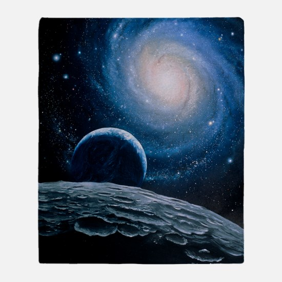 Artwork of a spiral galaxy Throw Blanket