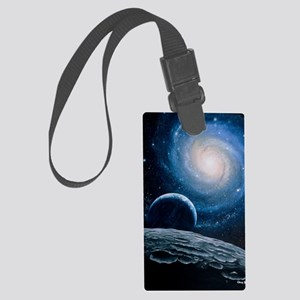 Artwork of a spiral galaxy Large Luggage Tag