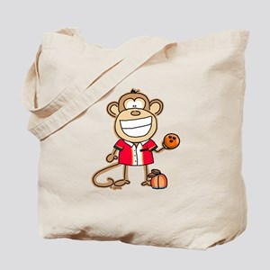 Bowling Monkey Tote Bag