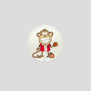 Bowling Monkey Mini Button