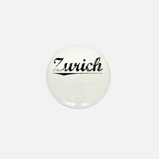 Zurich, Vintage Mini Button