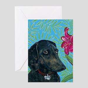 5x7V Doxie Greeting Card