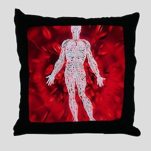 Blood circulation Throw Pillow