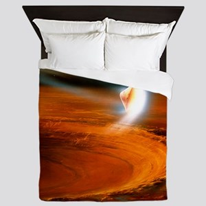 Artwork of Mars Polar Lander descendin Queen Duvet