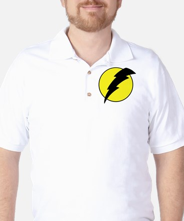 A lightning bolt Golf Shirt