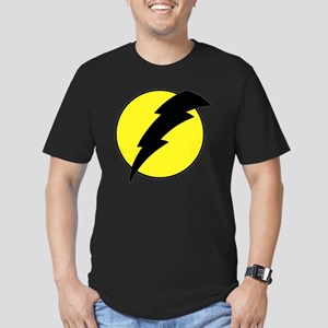 A lightning bolt Men's Fitted T-Shirt (dark)