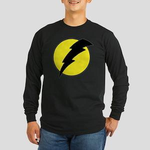 A lightning bolt Long Sleeve Dark T-Shirt