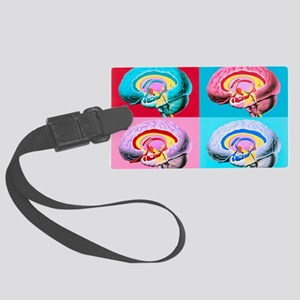 Artworks showing the limbic syst Large Luggage Tag