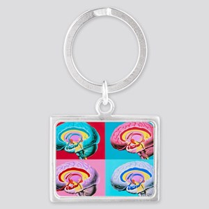 Artworks showing the limbic sys Landscape Keychain