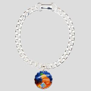 Artwork of Sun and plane Charm Bracelet, One Charm