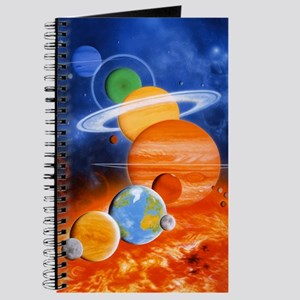 Artwork of Sun and planets of Solar System Journal