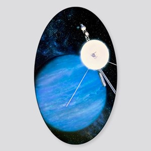 Artwork of Voyager 2 approaching Ne Sticker (Oval)