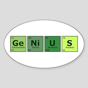 Genius Oval Sticker