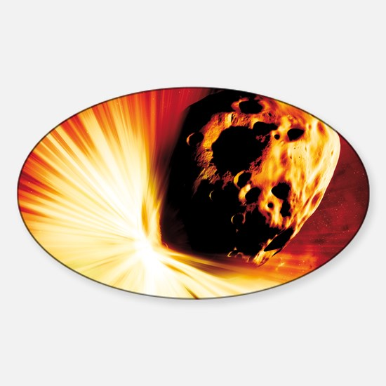 Asteroid deflection, stand-off expl Sticker (Oval)