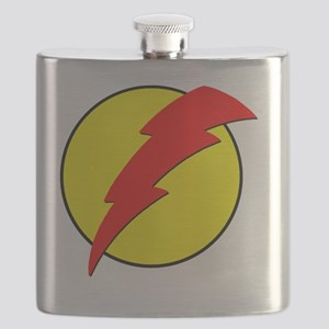 A Red Lightning Bolt Flask